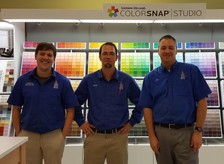 The guys at sherwin-williams Biddeford, Me