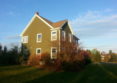 This is an exterior painting project in Bradly Scarborough Me