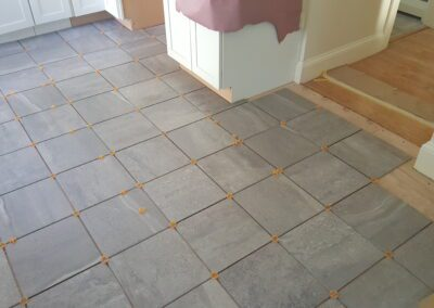 This is a flooring project in Portland ME