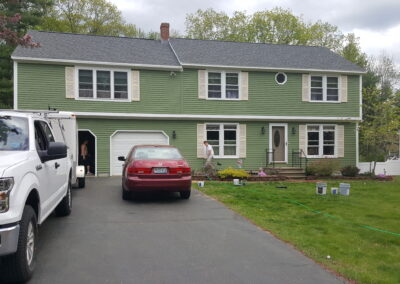 This is a exterior painting project in Saco ME