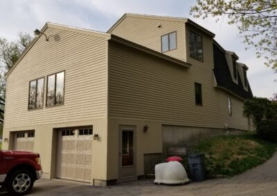 This is an exterior painting project in North St Kennebunk Me